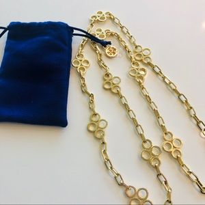 Tory Burch Gold Clover Necklace